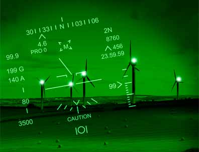 Infrared warning lighting for wind turbines